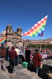 General strike in Cusco, Peru. Strike in Cusco to protest teachers wages in July 2017 Stock Image