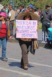 General strike in Cusco, Peru. Strike in Cusco to protest teachers wages in July 2017 Royalty Free Stock Photography