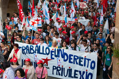 General Strike in galicia Royalty Free Stock Image