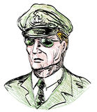 General with sunglasses Royalty Free Stock Photos