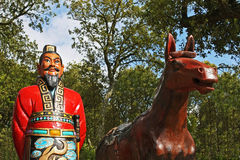General Terracotta Warrior. With his horse Royalty Free Stock Image