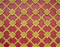 General Thai traditional art stucco pattern on temple wall. Stock Photos