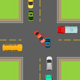 General Traffic Rules. Turn Left at Crossroads. Royalty Free Stock Images