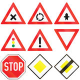 General Traffic Signs in Austria Stock Photo