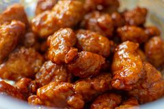 General Tso Chicken. Delicious plate of General Tso`s chicken royalty free stock image