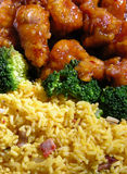 General Tso's Chicken. Chinese food for dinner General Tso's chicken Royalty Free Stock Image