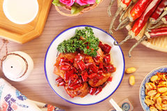 General Tso`s chicken Royalty Free Stock Image