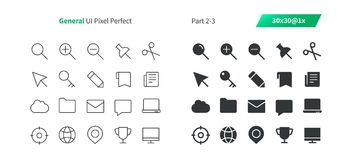 General UI Pixel Perfect Well-crafted Vector Thin Line And Solid Icons 30 1x Grid for Web Graphics and Apps. Simple Minimal Pictogram Part 2-3 Royalty Free Stock Image