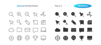 General UI Pixel Perfect Well-crafted Vector Thin Line And Solid Icons 30 2x Grid for Web Graphics and Apps. Simple Minimal Pictogram Part 2-3 Stock Image