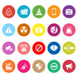 General useful flat icons on white background Royalty Free Stock Photos