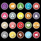General useful icons with long shadow Stock Photo