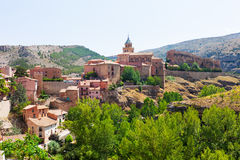 General view of Albarracin Royalty Free Stock Photos