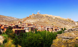 General view of Albarracin in summer Stock Photos