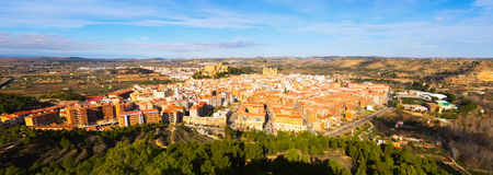 General view of Alcaniz. Aragon, Spain royalty free stock photography