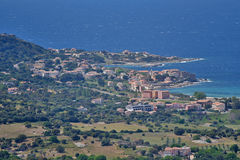 A general view of Algajola in the Corsican coast Stock Photography