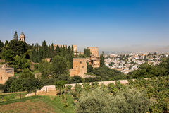 General view of the Alhambra. Granada, Spain on a hot summer day Stock Photography