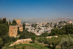 General view of the Alhambra Stock Photos