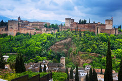 General view of  Alhambra Royalty Free Stock Photography