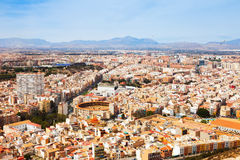 General view of Alicante cityscape with arena Stock Image