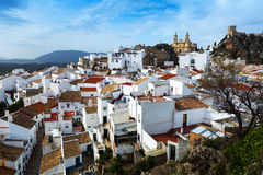 General view of  andalusian town.  Olvera Royalty Free Stock Image