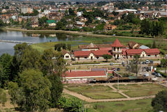General view of Antsirabe. Lake, Cure Thermal, and genral view of Antsirabe, Madagascar Stock Photography
