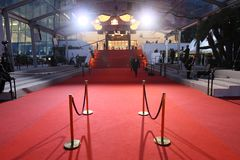 A general view atmosphere  during the 70th Annual Cannes Film Fe. CANNES, FRANCE - MAY 18: A general view atmosphere  during the 70th Annual Cannes Film Festival Royalty Free Stock Image