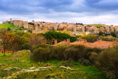 General view of Avila  in autumn Royalty Free Stock Photo
