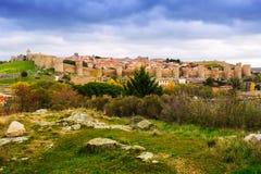 General view of Avila  in november. Spain Royalty Free Stock Photo