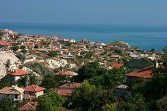 General view of Balcic. Bulgaria royalty free stock images