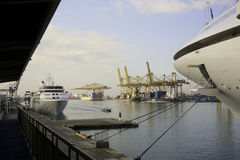 General View of Barcelona Harbour, Spain Stock Photography