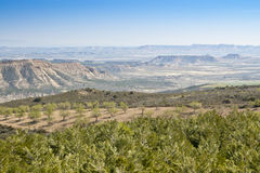 General view of Bardenas Reales Royalty Free Stock Photos
