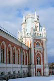 General view of the Big Palace in Tsaritsyno park in Moscow Royalty Free Stock Photography
