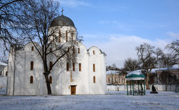 General view of Boris and Gleb cathedral, in Chernihiv, Ukraine Royalty Free Stock Photos