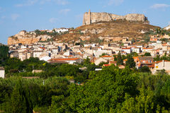 General view of Borja. Aragon, Spain royalty free stock image