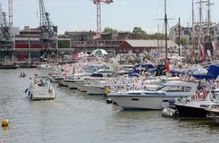 General view of the Bristol Harbour Festival Royalty Free Stock Photos