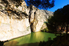 General view of  Caminito del Rey Royalty Free Stock Images