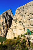 General view of  Caminito del Rey Royalty Free Stock Photo