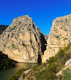 General view of  Caminito del Rey Royalty Free Stock Photography
