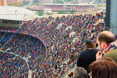 A general view of the Camp Nou Stadium Stock Photography