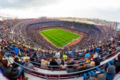 A general view of the Camp Nou Stadium Stock Photos