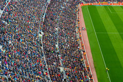 A general view of the Camp Nou Stadium Stock Image