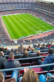 A general view of the Camp Nou Stadium in the football match Royalty Free Stock Image