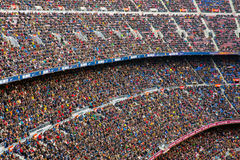A general view of the Camp Nou Stadium in the football match between Futbol Club Barcelona Royalty Free Stock Photos