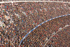 A general view of the Camp Nou Stadium in the football match between Futbol Club Barcelona and Malaga Royalty Free Stock Photo