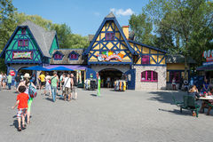 General View of Canada's Wonderland. TORONTO-AUGUST 17: Canada's Wonderland is a 330-acre theme park. It is the first major theme park in Canada and remains the royalty free stock images