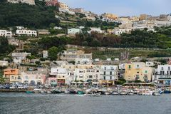 General view of Capri Island in Naples, Italy. General view of Capri Island in Naples City, Italy royalty free stock photography