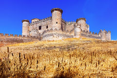 General view of Castle in Belmonte Stock Image