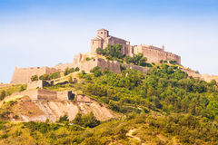 General view of Castle of Cardona. Catalonia Stock Image