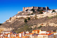General view of castle of Chinchilla Stock Photo