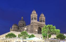 General view of the cathedral of Marseille, Sainte-Marie-Majeure, also known as La Major. General view of the cathedral of Marseille, Sainte-Marie-Majeure, also royalty free stock images